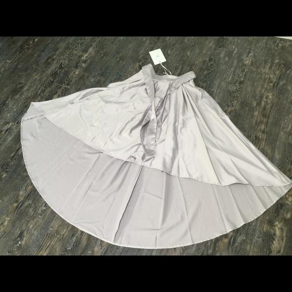 Indikah Dresses & Skirts - Indikah Hi-Low satin skirt